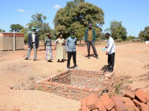 Construction of the toilets at Kamuna Primary school