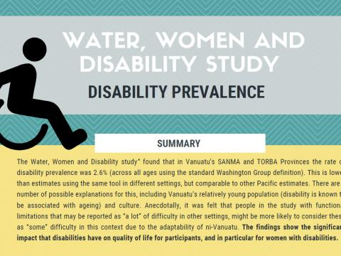 Water, women and disability study - disability prevalence