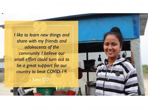 Former sponsored child educates her community in the fight against COVID-19 cover