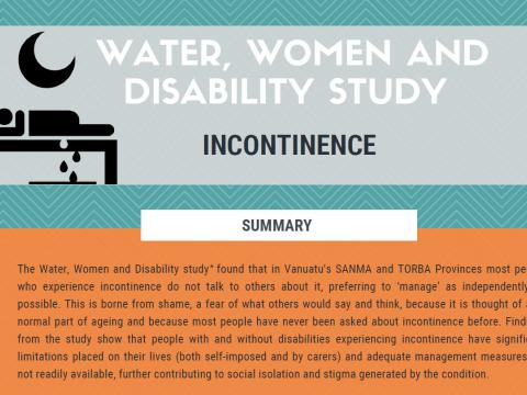Water, women and disability study - incontinence