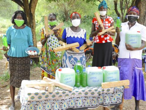 Kenyan women produce soap to help their communities protect themselves from COVID-19