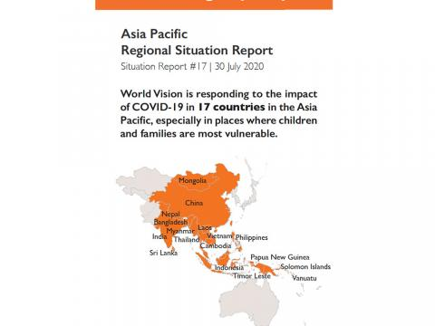 Asia Pacific Covid 19 Response Updates July 30 2020 World Vision International