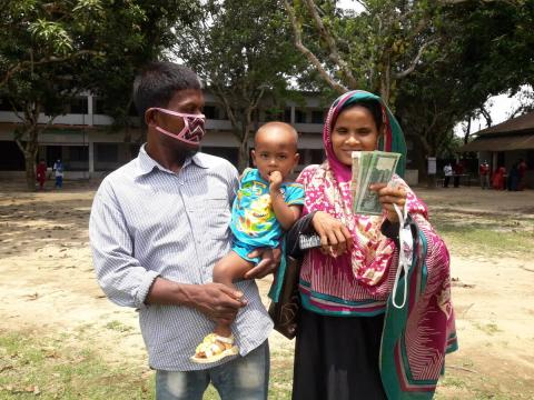 World Vision Bangladesh supported cash grants over 18,000 families worth 65 million BDT