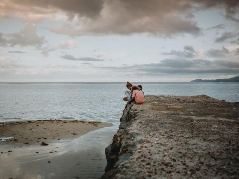 wall built to fight rising sea levels in Solomon Islands