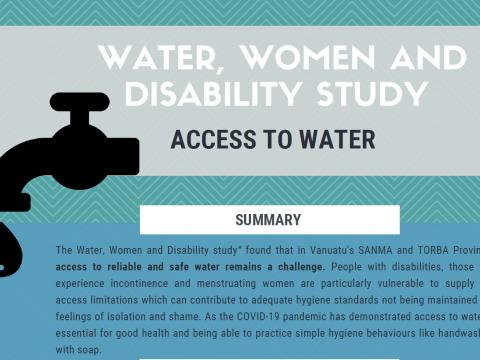 Water, women and disability study - access to water