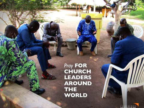 Pray for church leaders around the world