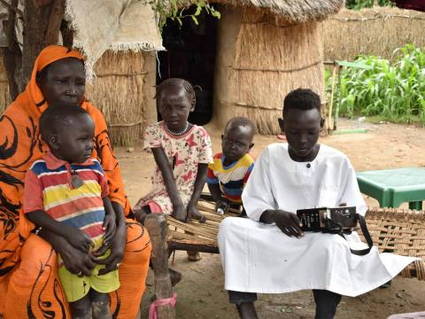 13-year-old Nouraldin and his family in Sudan's Blue Nile state, tune into the local radio station for news about COVID-19 so that they can prevent risk of infection.