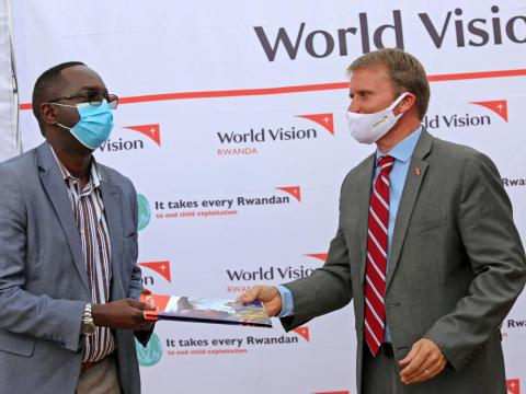World Vision partners with the Ministry of Health to inaugurate hand-washing stations in health facilities
