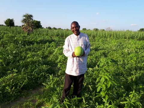 Pastor Issaka and his huge watermelon farm