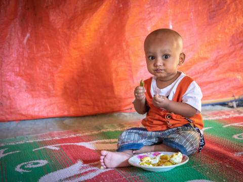 1-year-old growing up in Cox's Bazar refugee camp