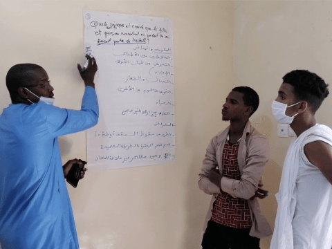 Safeguarding Week workshop for children and young people in Mauritania