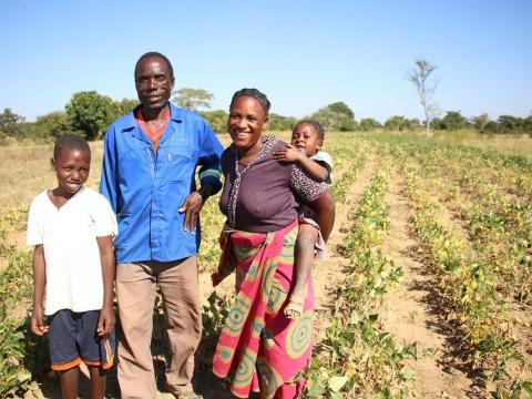 Monday and his family in Zambia learned smart farming techniques