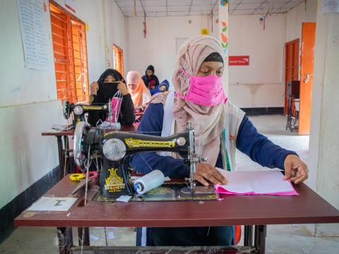 Coping with the COVID-19 pandemic is an unprecedented challenge for Minara, a 35-year-old single Rohingya mother, who came to Bangladesh in July 2017 with her five children just before violence erupted in Myanmar.