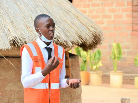 Kampamba, 16, is raising awareness of COVID-19 in his community in Zambia and stopping violence against children