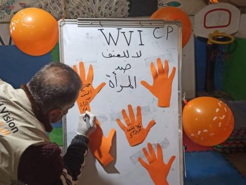 World Vision staff in Syria celebrates 16 Days of Activism Against Gender-Based Violence