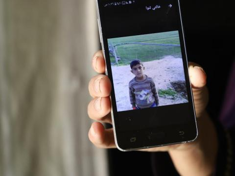 Majed, syrian refugee child in Lebanon who drowned is remembered on his mother's phone