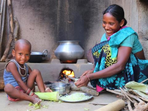 Priya and her mother have been helped by World Vision India's Kitchen Garden project.
