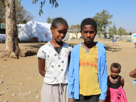 Yonas, 12 years old, was forced to flee due to conflict in Tigray, Ethiopia.