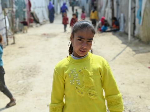 Nour, a 10-year-old Syrian refugee in Lebanon.
