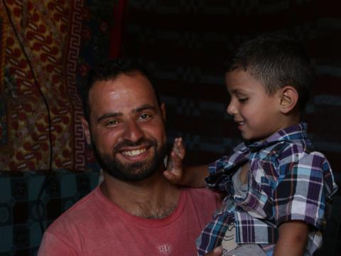Moatez and his father Ahmed