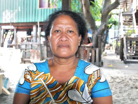 Everlyn Poasi, a faith leader at Mamanawate community