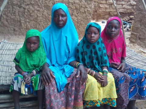 Hadizatou with her daughters