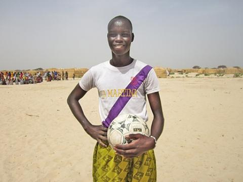 Seventeen-year-old Kere Ali is very passionate about sports, especially football