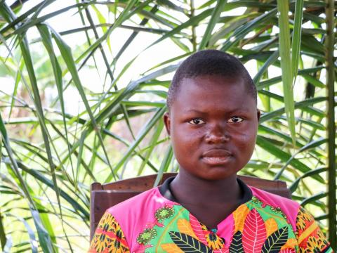 Tshiabu lost her father in ethnic violence in Tshikapa, and then had to flee with her village to the bush when the military came searching for the militias.