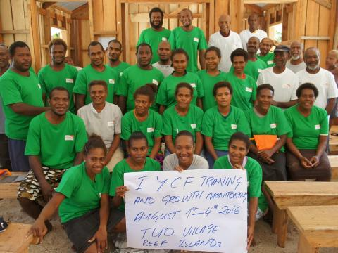 Second training for VHV Roselyn attended. The training was held at Tuo Village in the Reef Islands in early August
