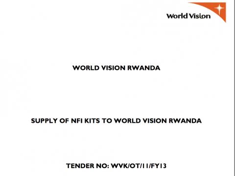 Tenders Notice | World Vision International