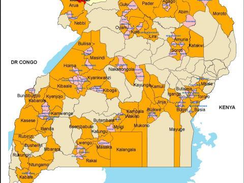 World Vision Uganda operation areas as of 2017 | World ...