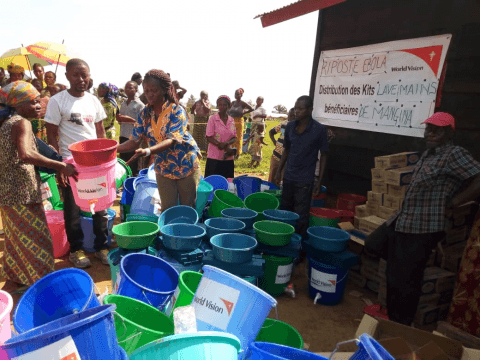 World Vision distributes hygiene kits to vulnerable families in North Kivu