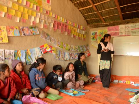 Reading club in Nepal