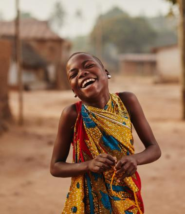 Smiling girl in Ghana