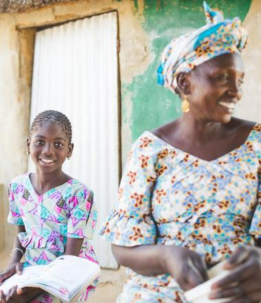 A girl and her grandmother in Senegal