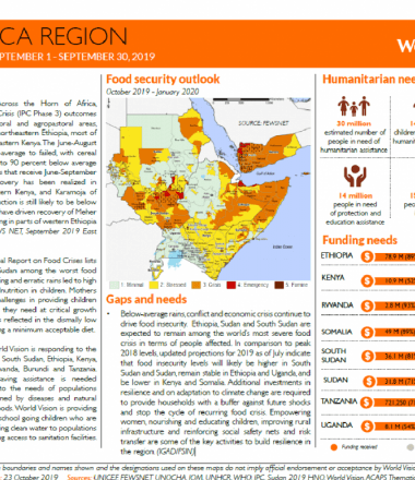East Africa Children's Crisis Situation Report September 2019