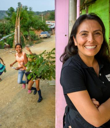 Mayerly Sanchez, former World Vision sponsored child, is now Brand & Communications Manager for World Vision Colombia.