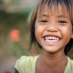 A Cambodian girl smiles