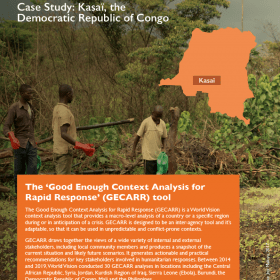Use of GECARR in conflict contexts Case Study: Kasaï, the Democratic Republic of Congo