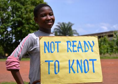 Ghanaian children campaign for an end to child marriage