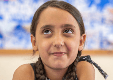 Syrian girl dreaming of turning hope into reality