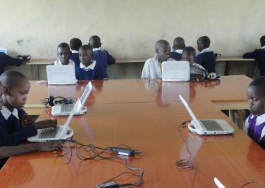 Computers have made learning interesting for children at Kimintent Primary School.