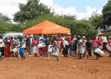 Distribution of Basic Water, Sanitation, and Hygiene support in Chimanimani in April 2019