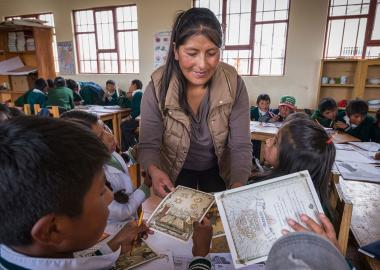 Felisa Teaches Children in Bolivia
