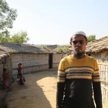 """We will not go back to Myanmar without our rights. We have suffered too much. We are grateful to the Government of Bangladesh for giving us a safe place to live.""-Fayas"