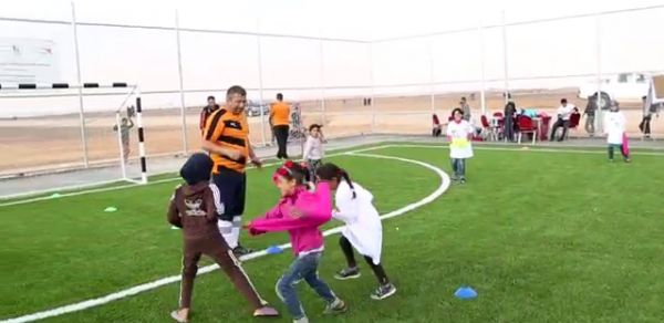 English Premier League teaches soccer skills to refugees in Jordan