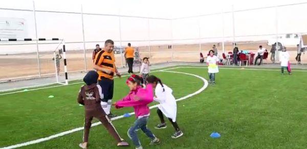 English Premier League teaches soccer skills to refugees in Jordan