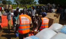 Food Distribution to S Sudan refugees by WVU