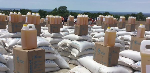 How does a World Vision Food Distribution Point look like?