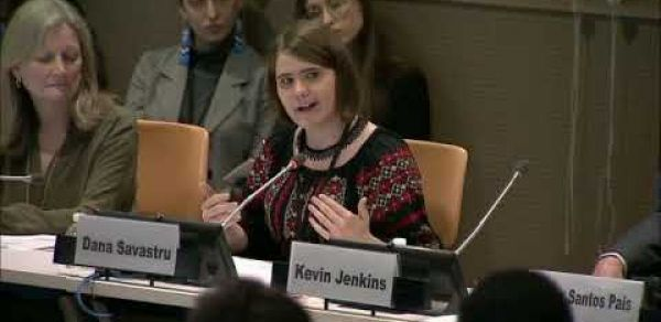 Young Leader speaks at the UN